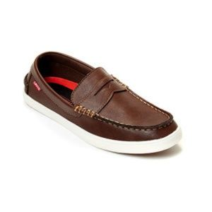 Levis Mens Nappa Brown Slip On Loafer Shoes 9M